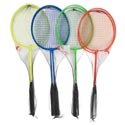 Badminton Set 3pc 4ast Color 2x24inl Racket W/shuttlecock Orange/green/yellow/blue