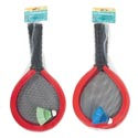 Badminton Set Oversize Foam 2 Rackets & 1 Shuttlecock Netbag W/summer Header Card