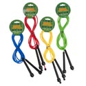 Jump Rope Fitness 9ft Plastic Solid Color Rope W/black Handle Sport Header Card