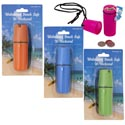 Beach Safe Waterproof Moneycase 4.75in Plastic 4ast Colors Blc W/carry Cord
