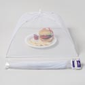 Food Umbrella Mesh Cover 17in Rectngl White Summer Polybag/hdr