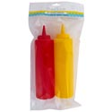 Mustard/ketchup Condiment 2pk 8.5in/14oz Bpa Free Dispensers Peggable Opp Polybag