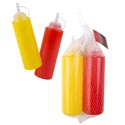 Mustard/ketchup Condiment 2pk Dispensers 7in 12 Oz W/mesh Bag Ht