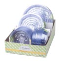 Planter Saucers Clear Plst 3ast **sizes 86pc Pdq/grdn Label 3pk-10in/4pk-8in/6pk-6in
