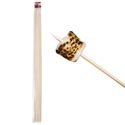 Campfire Bamboo Roasting Stick 8pk 30inl/6mm For Hot Dog/marsh Mallows Bbq Polybag/header