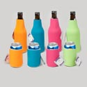 Bottle/can Cooler Holder 2styles Neoprene/solid Summer Clrs/24pc Chain Mdsstrip/ss Ht