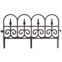 Garden Fence 23x13in Black/white 137g Garden Hang Tag