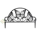Garden Fence Butterfly Design **18.5x11.8in Black Grdn Hangtg