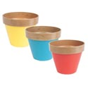 Planter 3ast Plastic W/color Base 6.25inh X 7.75in Dia Top Upc Label