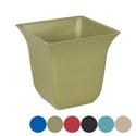 Planter Bamboo Fiber Square W/ Fluted Top 5.91x5.71inh Biodegr 6asst Colors