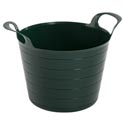Garden Bucket Flexible Plastic Green 190g 13 X 10.125 X 9in Color Label W/upc