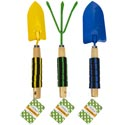 Garden Tools Metal W/striped Foam Grip Handle 3 Colors/styles Spade/trowel/claw Garden Ht