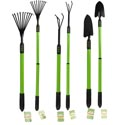 Garden Tools Extendable To About 41inches 3asst Rake/claw/spade Garden Ht