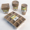 Peat Pots 4ast Shapes 2-9ct Natural Colors Garden Shrink/lbl No Amazon Sales
