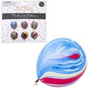 Balloons Marble Print 6pk/12in Party Pb/insert Card