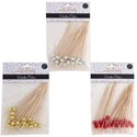 Party Wood Appetizer Picks 24ct 4.72inl 3ast Clrs/12pc Mdsgstrip Gold/red/silver Party Pbh