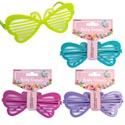 Party Glasses Spring Butterfly W/grill 4ast On 12pc Mdsg Strip Barbell Header