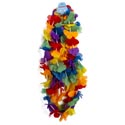 Luau Lei Rainbow 3pk Polyester 20in Barbell Header