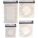 Doilies Paper 4ast Size 8-20ct Round & Rectangle Cream Party Pbh