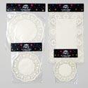 Doilies Paper 4ast Size 8-20ct Round & Rectangle Cream Color Party Pbh