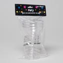 Champagne Plastic Glass 3pk 3.5inx4.25 Party Polybag/hdr