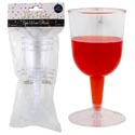"Wine Glass Plastic 3pk 5 Oz 2.5""dx5""h Party Polybag/header New Smaller Cs/pk"