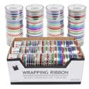 Wrap Ribbon 4/6ct On Roll 48pc Pdq Foils/metallic/holo- Graphic