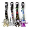 Party Horn New Year 14in On * Chain Fringed 4asst Ny Tiecard