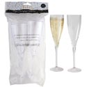 Champagne Flute Glass Set 2pk Plastic 9inh Prtd Party Opp Bag