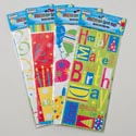 Loot Bag Cello 20ct 4asst Birthday Designs W/twist Ties 11.5in X 5in X 3in Party Pbh