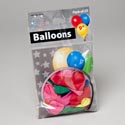 Balloons 25ct 9in Asst Color Latex Rubber In Printed Polybag