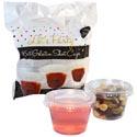 Gelatin Shot Cups W/lids 16ct 2.5oz Clear Plastic Party Printed Polybag