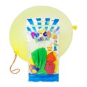 Punch Balloon 4pk Asst Color Latex Rubber In Prntd Polybag