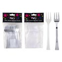 Appetizer Forks 24pk 4.5in L Plated Or Clear Plastic/prtd Pb