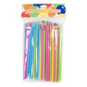 Straws W/spoon 100ct 4ast Colors Per Bag Pbh
