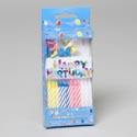Birthday Candles 24ct W/decor 1 Happy Bday Sign & 12ct Holders Party Printed Box 12pc Mdsgstrp