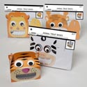 Treat Box 2pk Animal W/pop Up Paper Eyes & Window 4ast Styles 6.25inl X 3.75in W X 4.5in H