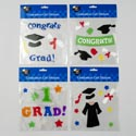 Graduation Gel Stickers 4ast Designs Polybag Header