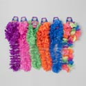 Luau Lei 4pc Set W/wristlets & Headband 6ast Neon Colors 1 Rainbow/5 Neon Solids Barbell