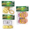 Party Favor Money Theme 3ast $ Glasses/coins W/bills/necklace Pbh