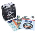 Gift Bag Fathers Day 4ast Design Large 10w X 12l X 5g Upc Label W/pvc Hook