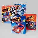 Gift Bag Hotstamp 4ast Racing Large 10 X 12.5 X 5/upc W/jhook