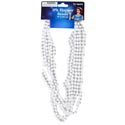 Necklace White Pearl Beads 3ct 48in L Barbell Card