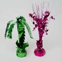 Luau Centerpiece/balloon Weight 2ast Palm Tree Or Flamingo/label
