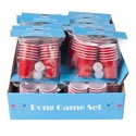 Cups Mini Red Game Pong Set 2 Balls/12 Cups 2fl/59ml/24pcpdq Party Pbh