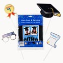 Photo Prop Kit Grad 6props W/ 30x30 Backdrop Grad Pb/insert