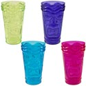 Tumbler Plastic Luau Shape 6inh Ps 4ast Color/luau Label Purple/orange/green/hot Pink