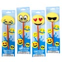 Emoticon Fun Straw 4ast 10in Large Heads/tie-on Card