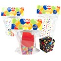Favor Box Birthday 8ct 2.25in W/plastic Handle 4ast Designs Party Pbh