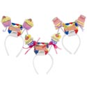Headband Birthday Cakes 3asst Styles Hdr Card/12pc Mdsg Strip